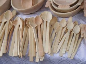 wood carved spoons